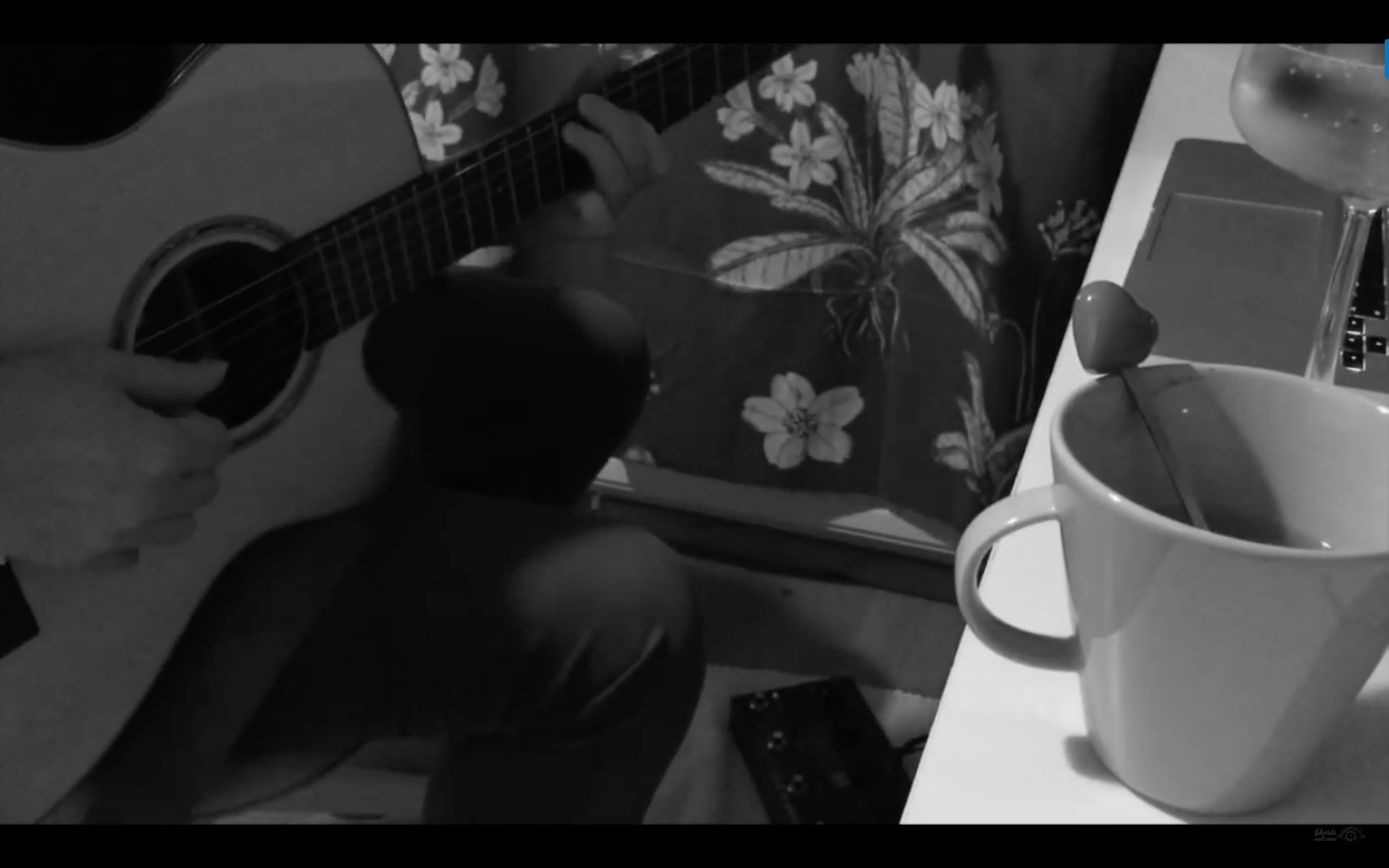 Acoustic rock jam with acoustic guitar and a loop pedal - Ghosts Welcome
