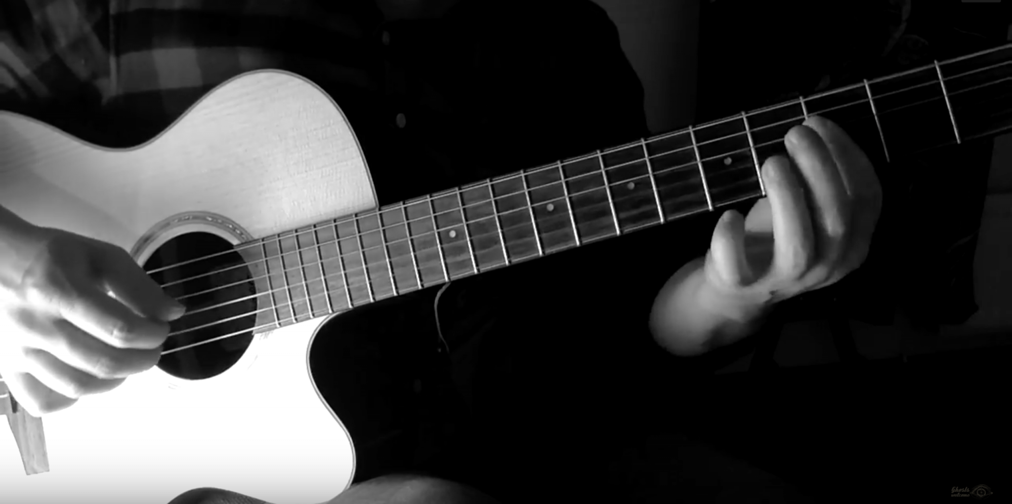 Natural harmonics on acoustic guitar - Ghosts Welcome