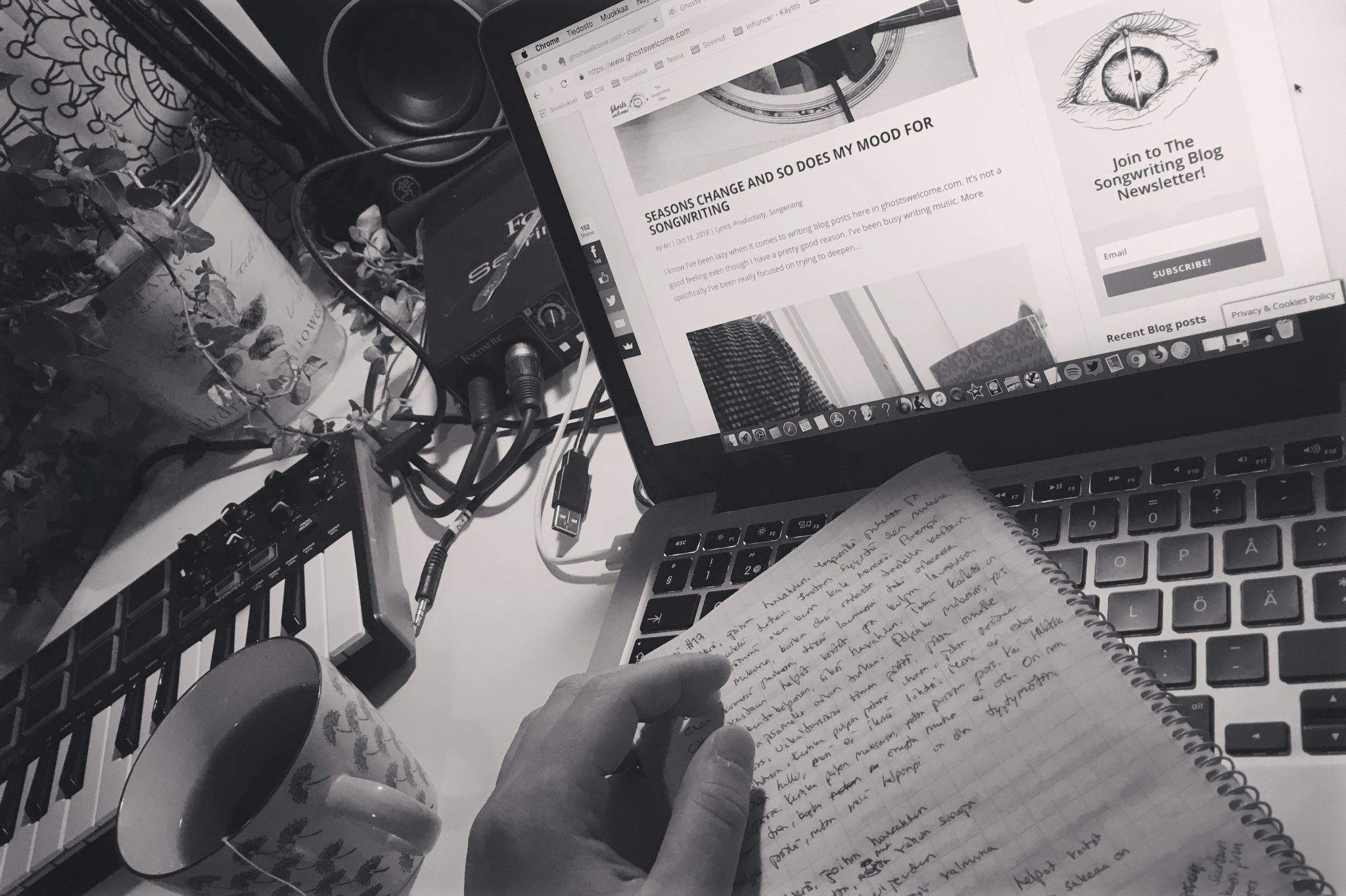 Writing with pen & paper vs. computer