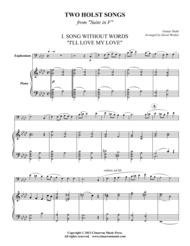 Two Holst Songs Sheet Music by Gustav Holst