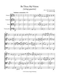 Be Thou My Vision (string quartet) Sheet Music by Traditional Irish