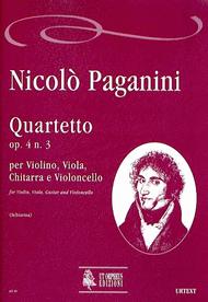 Quartet Op. 4 No. 3 Sheet Music by Nicolo Paganini