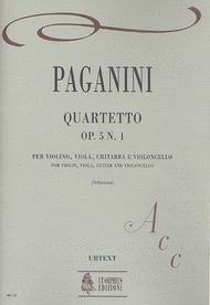 Quartet Op. 5 No. 1 Sheet Music by Nicolo Paganini