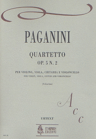 Quartet Op. 5 No. 2 Sheet Music by Nicolo Paganini