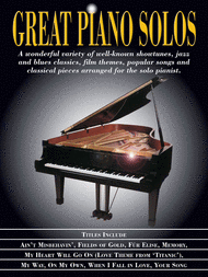 Great Piano Solos Sheet Music by Various