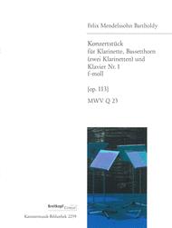 Concert Piece No. 1 in F minor MWV Q 23 (Op. 113) Sheet Music by Felix Bartholdy Mendelssohn