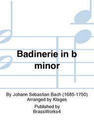 Badinerie in b minor Sheet Music by Johann Sebastian Bach