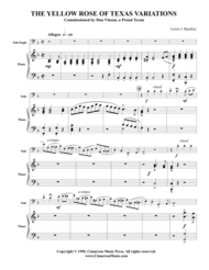 Yellow Rose of Texas and Variations Sheet Music by Traditional