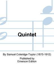 Quintet Sheet Music by Samuel Coleridge-Taylor