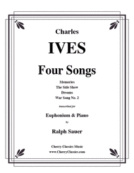 Four Songs for Euphonium & Piano Sheet Music by Charles Ives