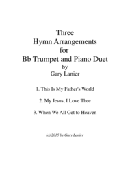 THREE HYMN ARRANGEMENTS for Bb TRUMPET and PIANO (Duet – Trumpet/Piano with Trumpet Part) Sheet Music by FRANKLIN L. SHEPPARD