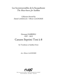 Canzon Septimi Toni a 8 Sheet Music by Giovanni Gabrieli