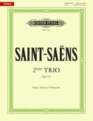 Piano Trio No. 2 in E Minor Op. 92 Sheet Music by Camille Saint-Saens