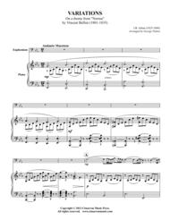 Variations Sheet Music by Jean-Baptiste Arban