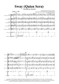 Sway (Quien Sera) - Michael Bublé - Saxophone Quintet Sheet Music by Michael Buble