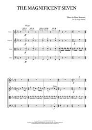 The Magnificent Seven for String Quartet Sheet Music by Elmer Bernstein