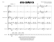 Oye Como Va for Steel Band Sheet Music by Santana