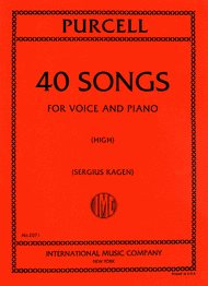 Forty Songs. Complete in One Volume - High Sheet Music by Henry Purcell