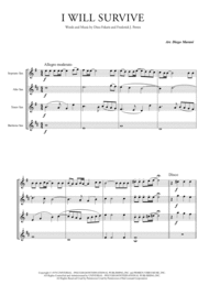 I Will Survive for Saxophone Quartet Sheet Music by Gloria Gaynor