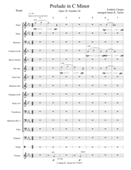 Prelude in C Minor Opus 28 No. 20 Sheet Music by Frederic Chopin