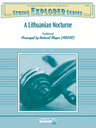 A Lithuanian Nocturne Sheet Music by Richard Meyer
