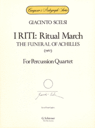 I Riti: Ritual March - The Funeral of Achilles Sheet Music by Giacinto Scelsi