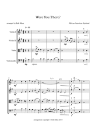 Were You There? Sheet Music by Traditional Spiritual