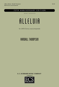 Alleluia Sheet Music by Randall Thompson