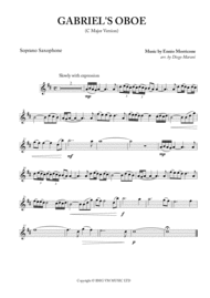 Gabriel'S Oboe (Nella Fantasia) for Saxophone Quartet Sheet Music by Amy Grant