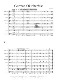German Oktoberfest - 10 German Songs - Brass Quintet Sheet Music by Traditional