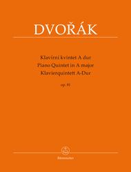 Piano Quintet A major op. 81 Sheet Music by Antonin Dvorak