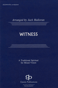 Witness Sheet Music by Dick Bolks