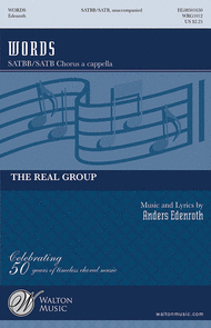 Words Sheet Music by Real Group
