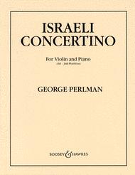 Israeli Concertino Sheet Music by George Perlman