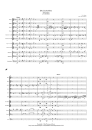 Mozart: Die Zauberflöte Overtüre (Overture to the Magic Flute) Kv620 - wind dectet (and bass) Sheet Music by Wolfgang Amadeus Mozart
