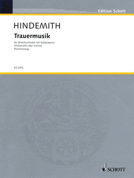 Trauermusik Sheet Music by Paul Hindemith