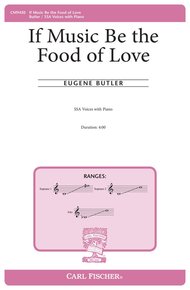 If Music Be the Food of Love Sheet Music by Eugene Butler