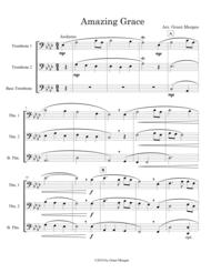 Amazing Grace - Trombone Trio Sheet Music by Grant Morgan