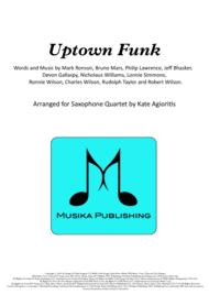 Uptown Funk - for Saxophone Quartet Sheet Music by Mark Ronson ft. Bruno Mars