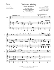 CHRISTMAS JOY MEDLEY (Flute/Piano and Flute Part) Sheet Music by George F. Handel