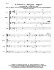 Radioactive - Imagine Dragons - Pentatonix - Lindsey Stirling for Strings Quartet Sheet Music by Imagine Dragons