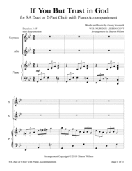 If You But Trust in God to Guide You (for SA Choir with Piano accompaniment) Sheet Music by Georg Neumark