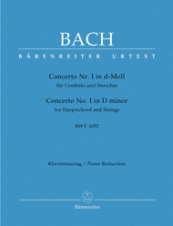 Concerto for Harpsichord and Strings No. 1 d minor BWV 1052 Sheet Music by Johann Sebastian Bach