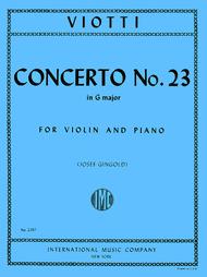 Concerto No. 23 in G major Sheet Music by Giovanni Battista Viotti