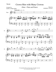 CROWN HIM WITH MANY CROWNS (Duet – Flute and Piano/Score and Parts) Sheet Music by George Job Elvey