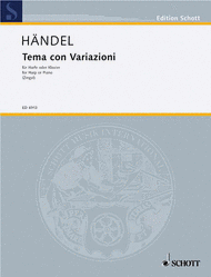 Theme and Variations Sheet Music by George Frideric Handel
