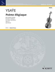 Poeme elegiaque op. 12 Sheet Music by Eugene Ysaye