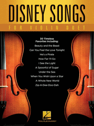 Disney Songs for Violin Duet Sheet Music by Various