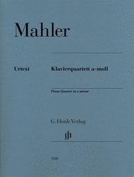 Piano Quartet in A minor Sheet Music by Gustav Mahler