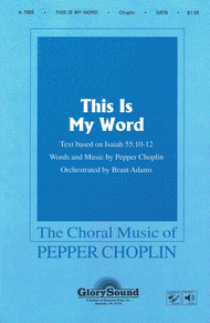 This Is My Word Sheet Music by Pepper Choplin
